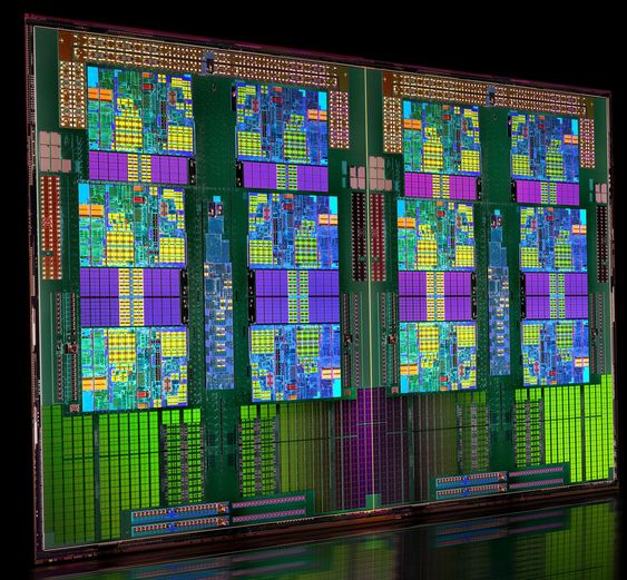 Prosessorene i AMDs Opteron 6100-serie har inntil 12 kjerner.