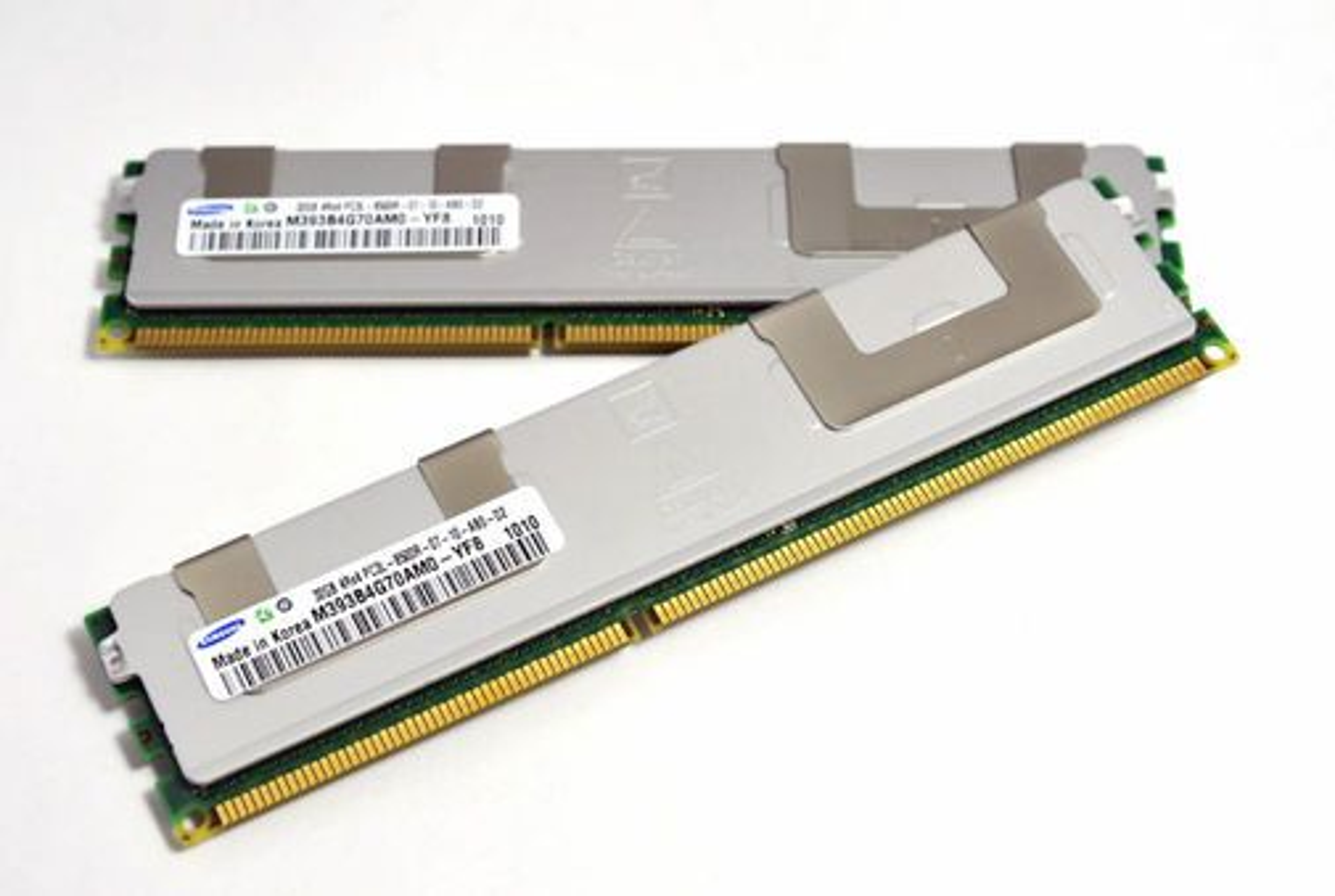 Samsungs første 32 gigabyte RDIMM minnemoduler.