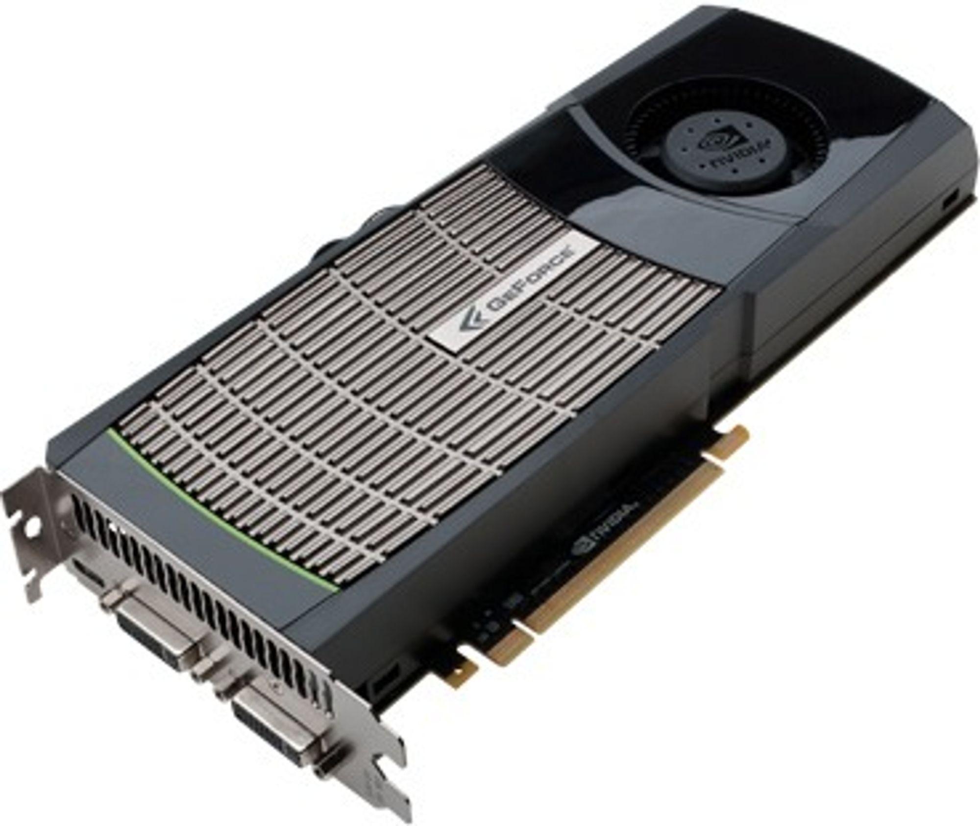 Skjermkort basert på Nvidia GeForce GTX 480