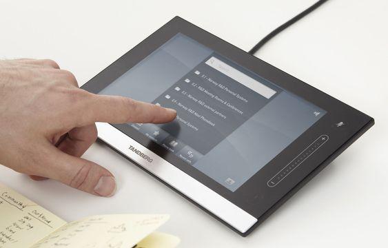 Intouch-skjermen gir enkel betjening av systemet.