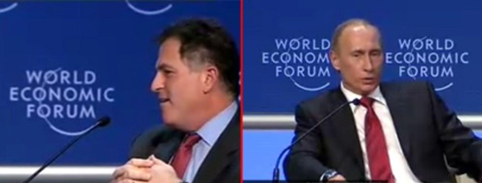 Dell innledet sitt spørsmål med en provokasjon, og Putin lot seg såre.