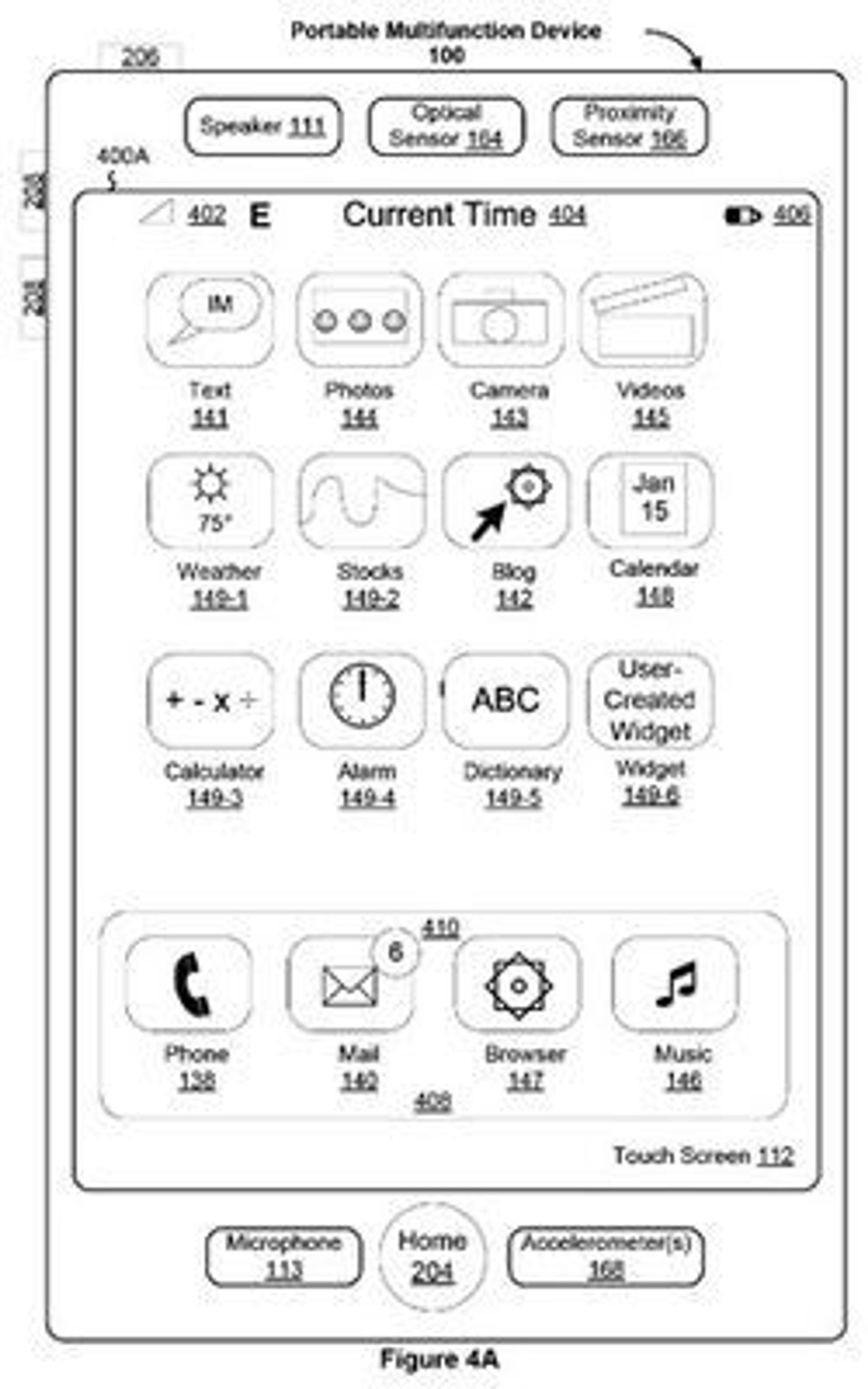 Nå har Apple et nytt våpen i kampen mot konkurrenter som vil kopiere iPhone. (Bilde: Apples patentsøknad)