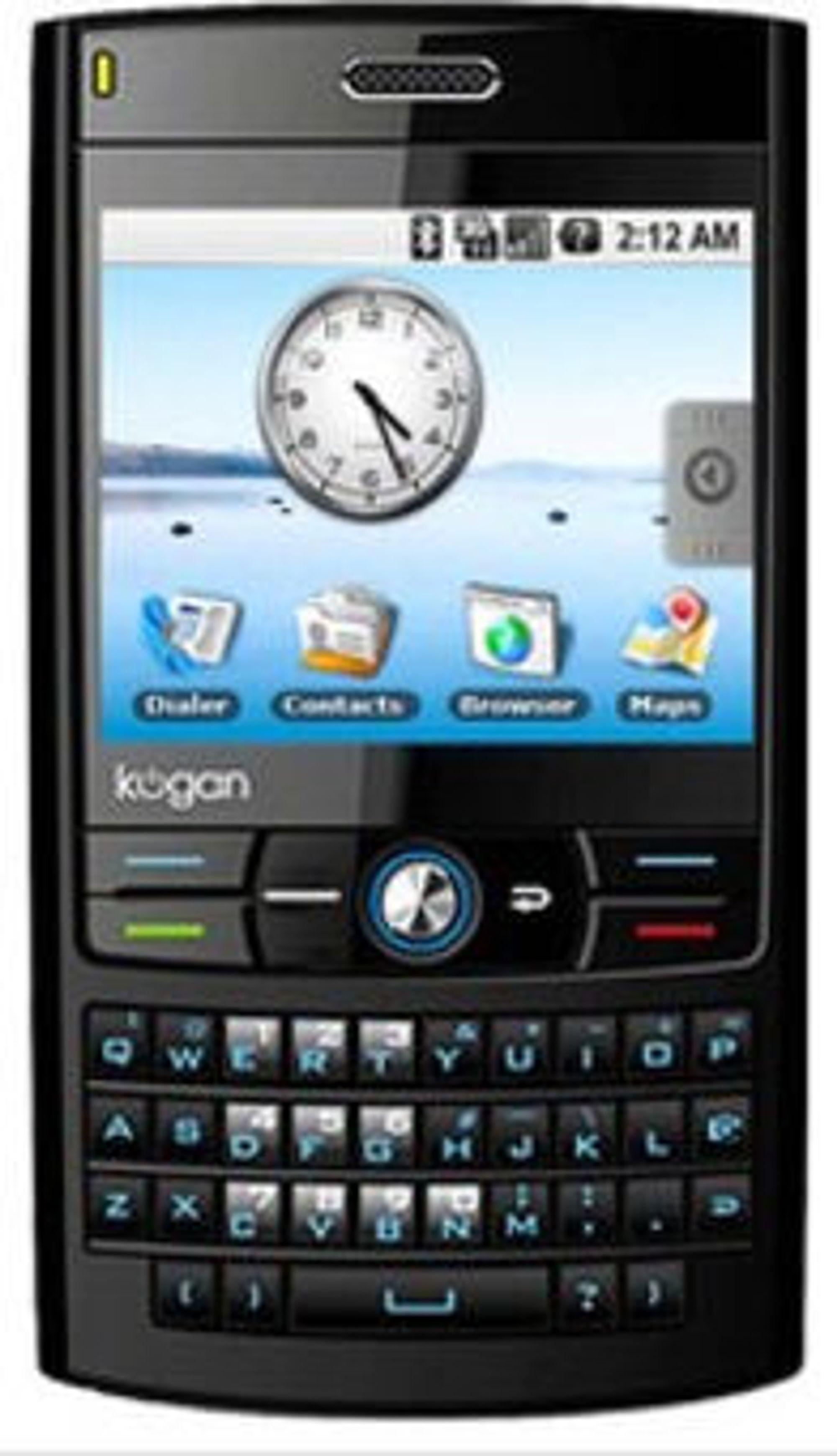 Android-basert Kogan-mobil.