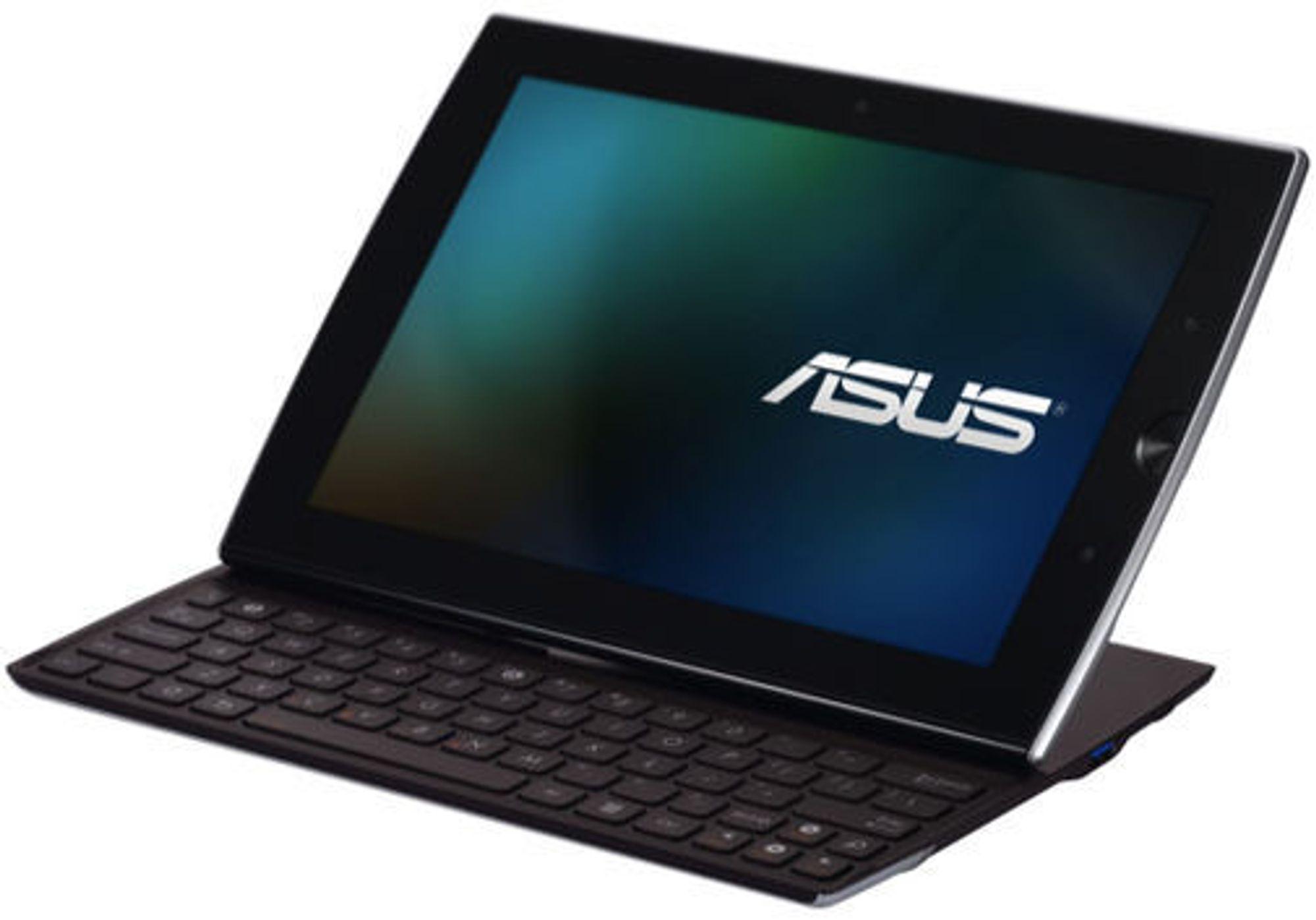 Asus Eee Pad Slider har et tastatur som kan felles inn bak skjermen.
