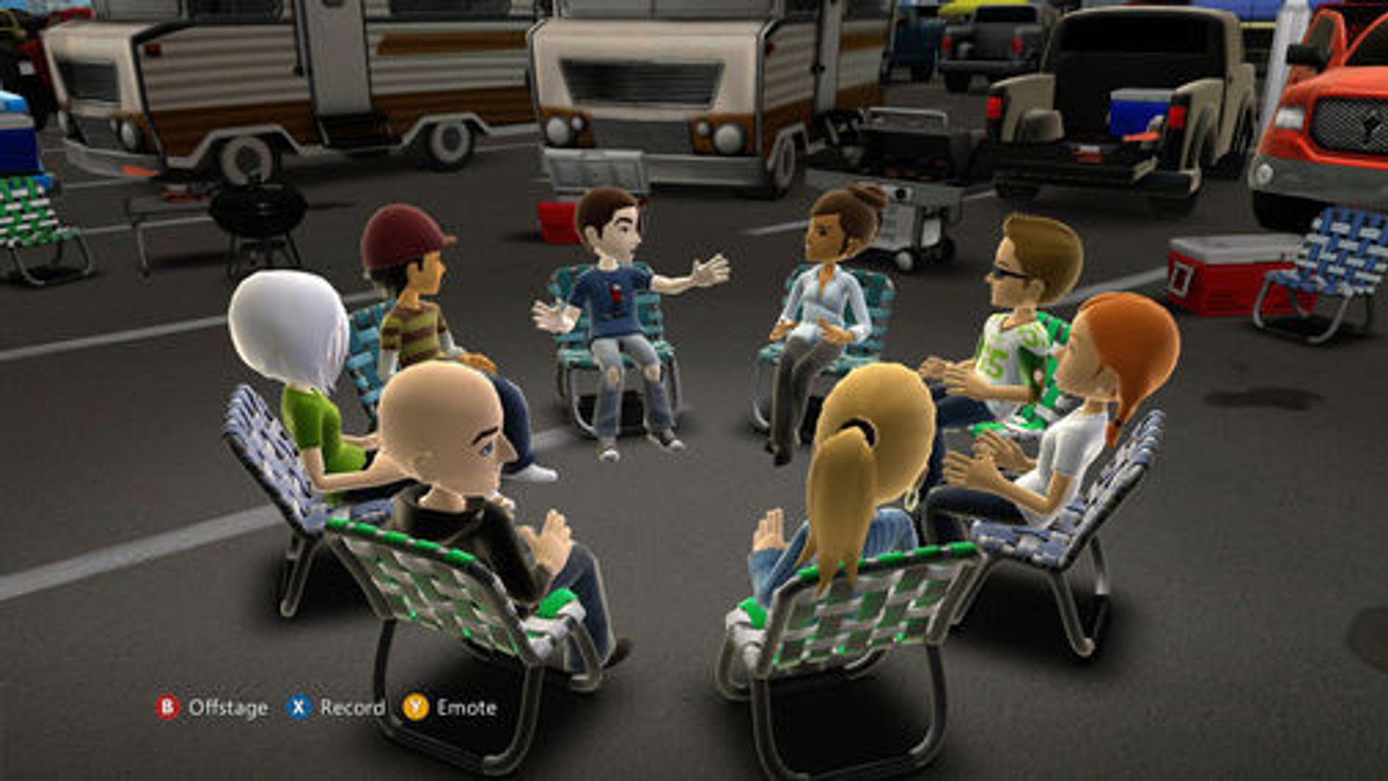 Demonstrasjon av Microsoft Avatar Kinect.