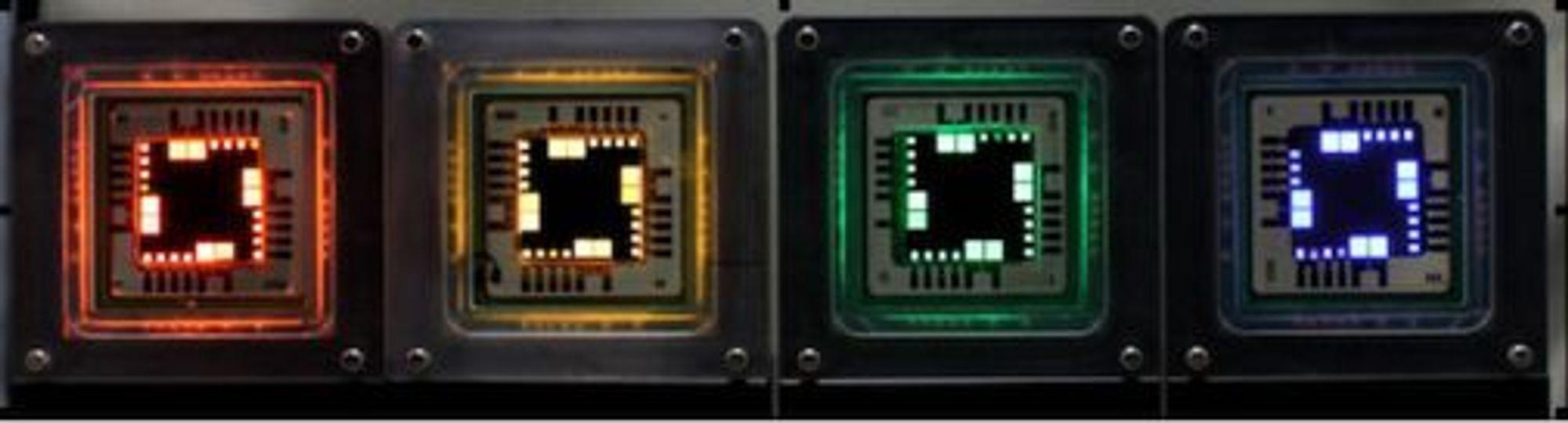 Prototyper av QLED-baserte skjermer.