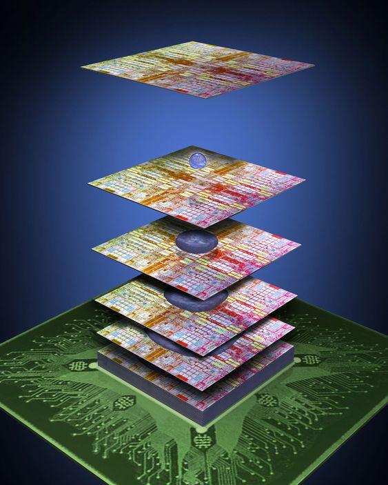 IBM og 3M vil «lime» samme silisiumbrikker til brikketårn med mange etasjer.