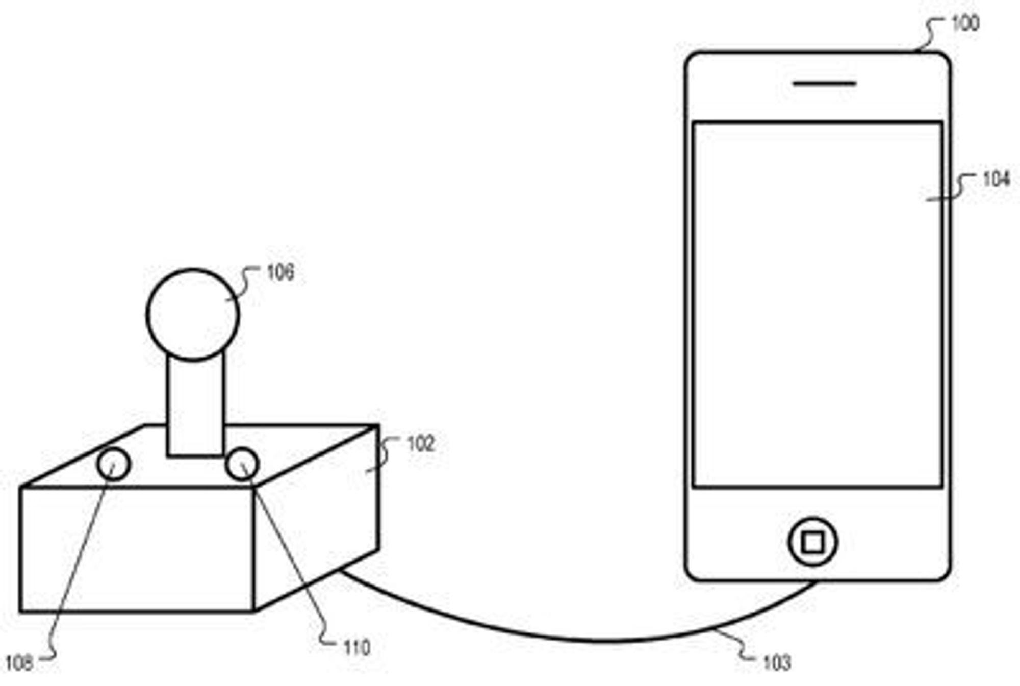 Illustrasjonen i patentet viser en spillkontroll med to knapper. I praksis dekker patentet alle tenkelige hjelpemidler for alle former for funksjonshemming.