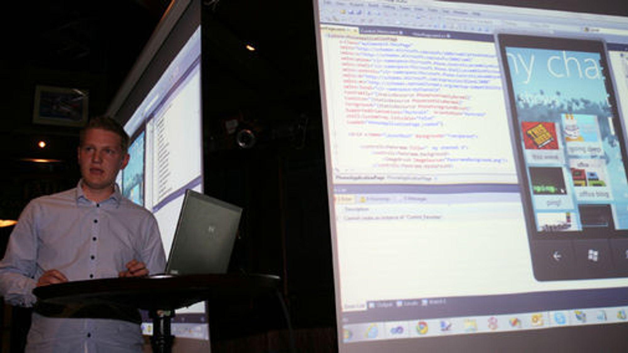 Sigurd Snørteland har tidligere laget en rekke applikasjoner til WP7. Nå har han utviklet en app store til Windows.