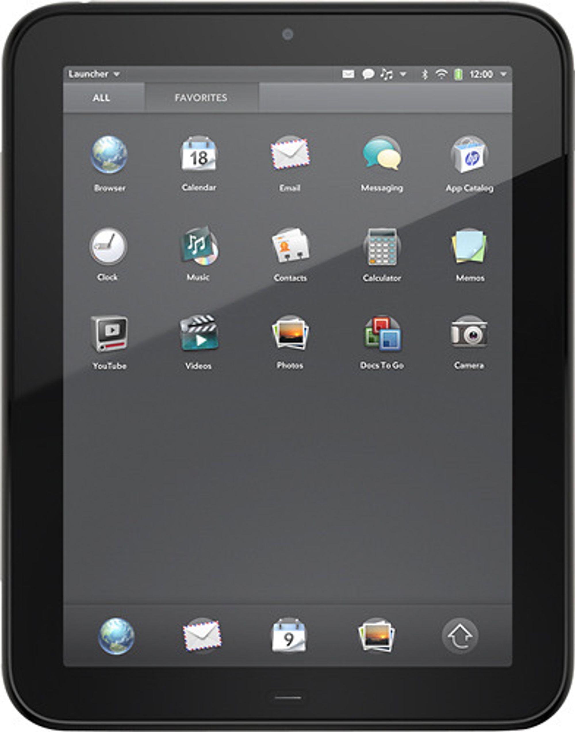 HPs WebOS-baserte nettbrett, TouchPad.
