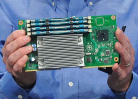 Typisk størrelse på hovedkortet til en mikroserver, riktignok fra Intel.