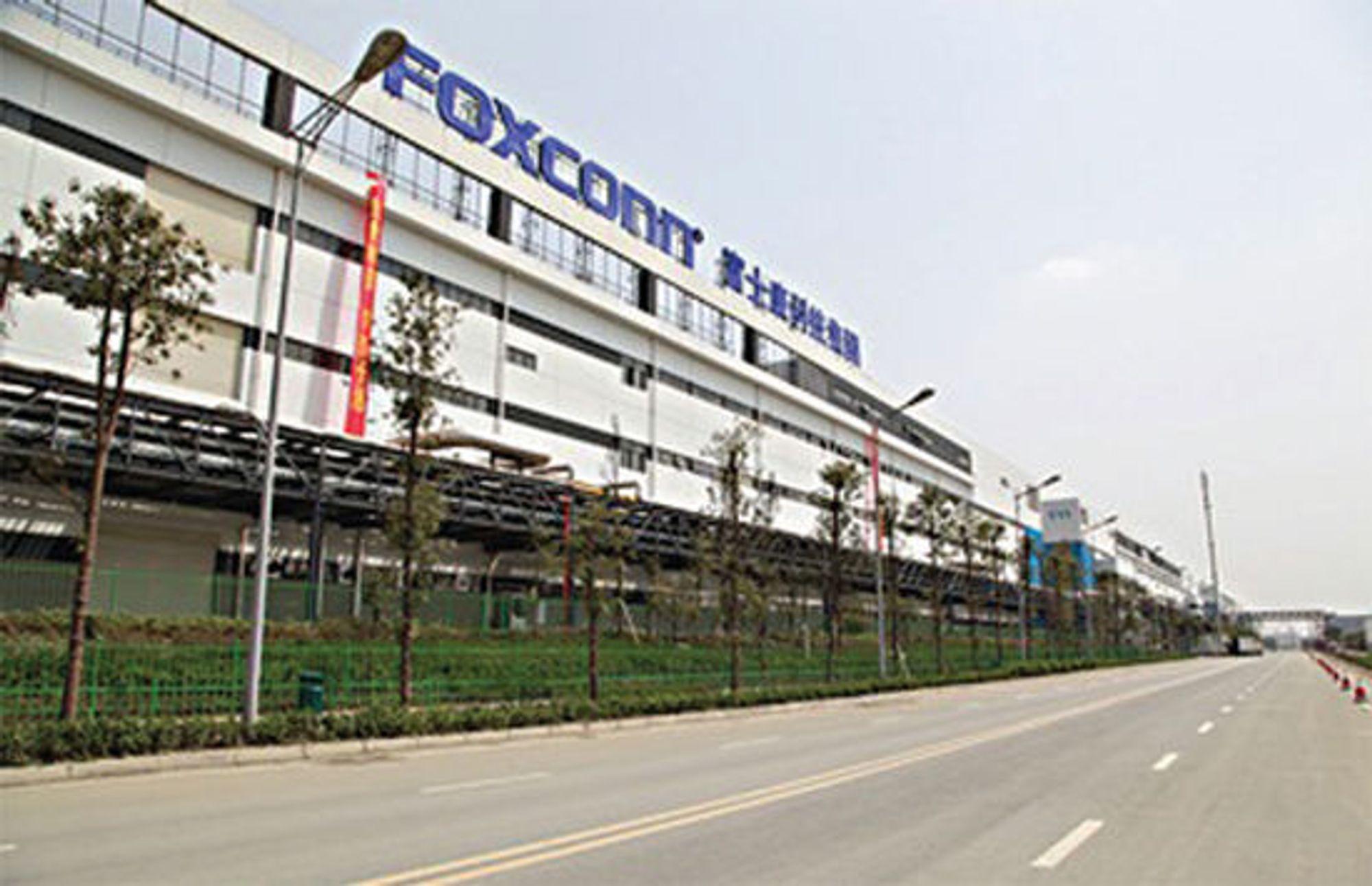 Fra et av Foxconns produksjonsanlegg i Shenzhen, for Apple-produkter som iPhone og iPad.