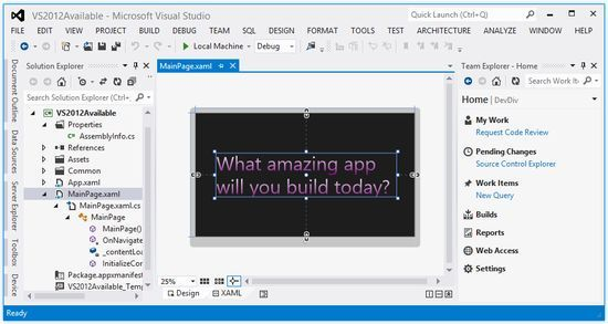 Microsoft Visual Studio 2012.