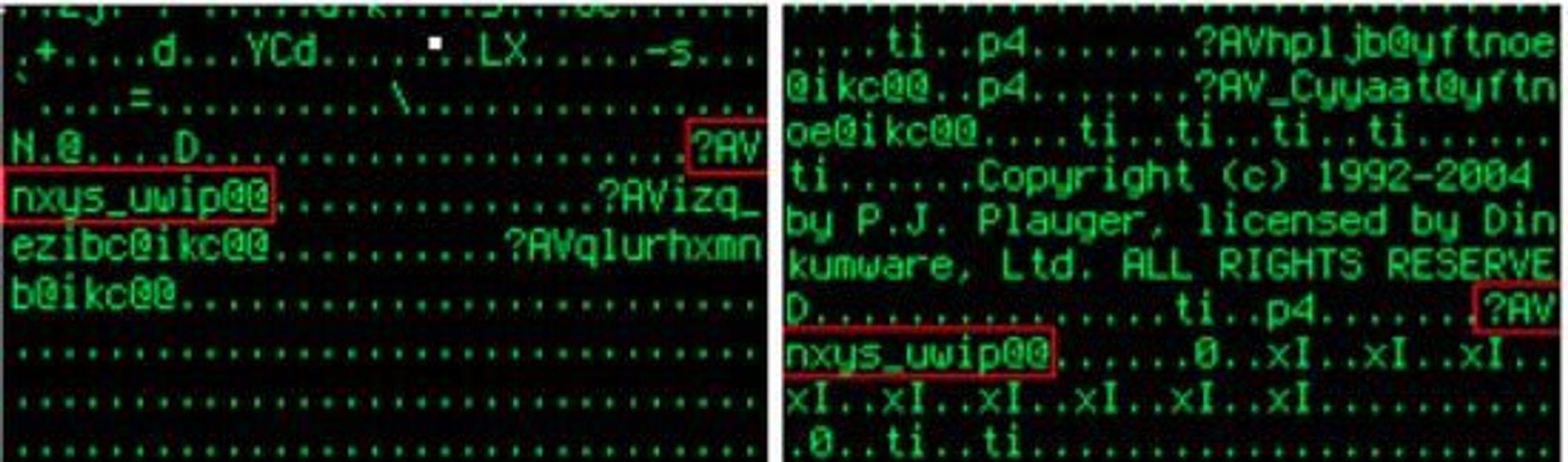 Kildekoden til det antatt USA-utviklede Flame-viruset (t.v.) skal ha en rekke likheter med Gauss (t.h)