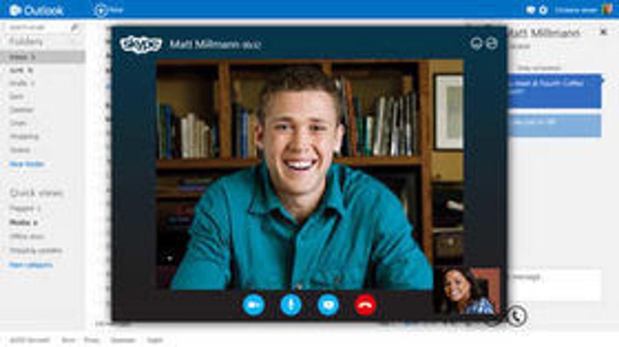 Outlook.com vil med tiden bli integrert med Skype, i tillegg til en rekke andre tjenester som Facebook og Twitter.
