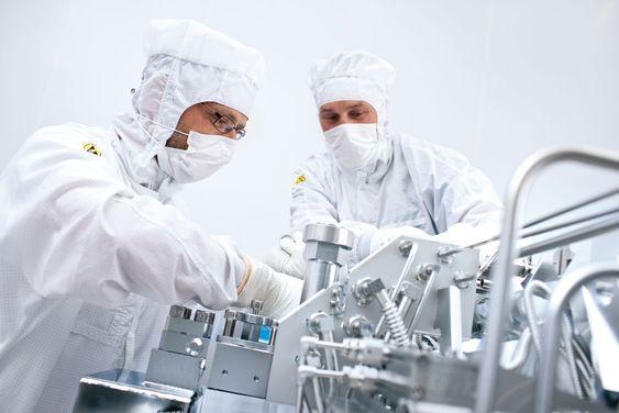 All utvikling hos ASML foregår i sterile omgivelser.