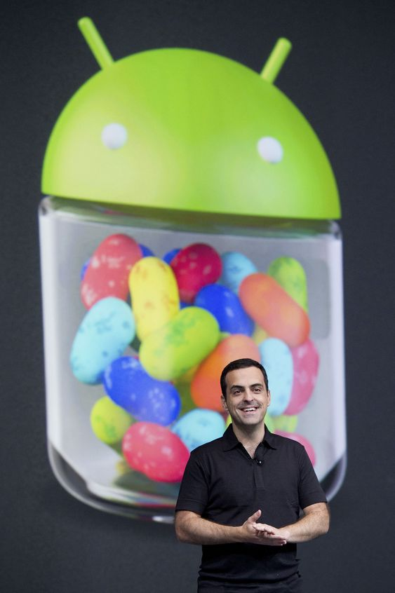 Hugo Barra, direktør for produktledelse hos Google, presenterte Jelly Bean-utgaven av Android under Google I/O i slutten av juni.