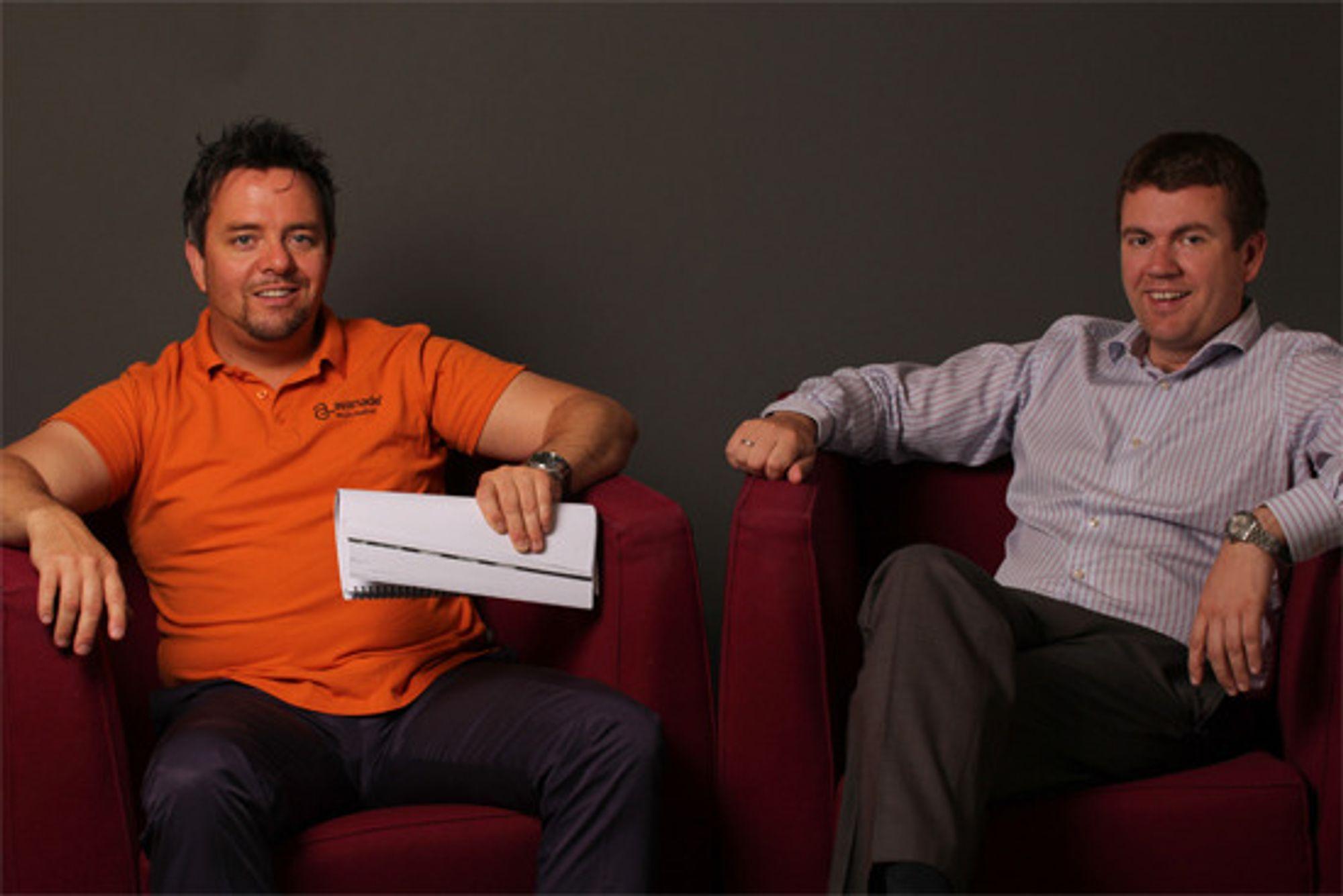 Göran Karlsson (t.v.) og Espen Sletteng-Fagerli, henholdsvis senior direktør forretningsutvikling og direktør & CTO i Avanade Norge, gikk gjennom undersøkelsen med digi.no.