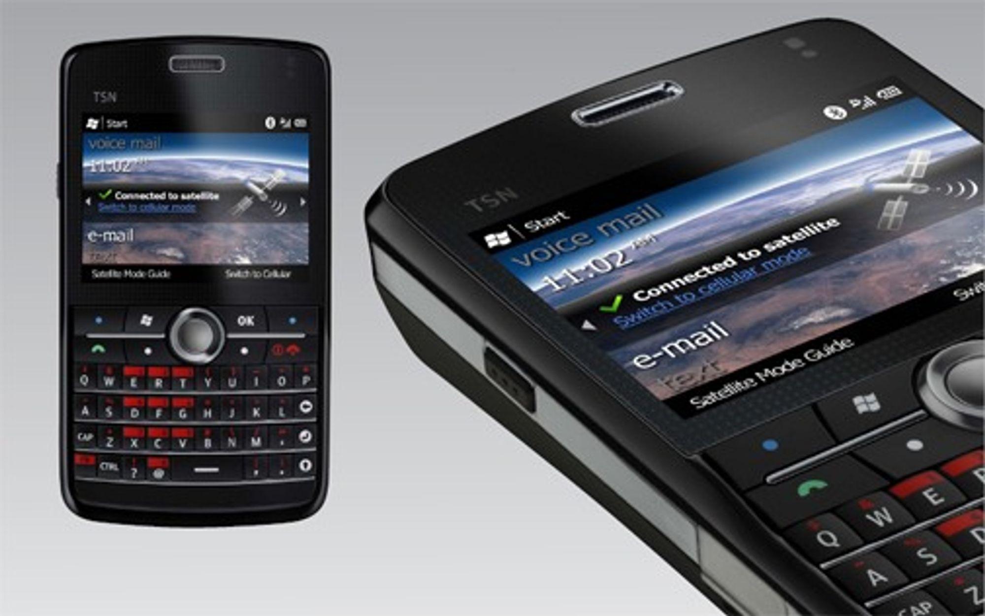 Den første telefonen til TerreStar-nettet har også GSM, 3G mobil og WLAN. Leverandør er finske Elektrobit.
