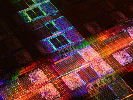Kretsene i Dunnington-generasjonen av Intels prosessorer.