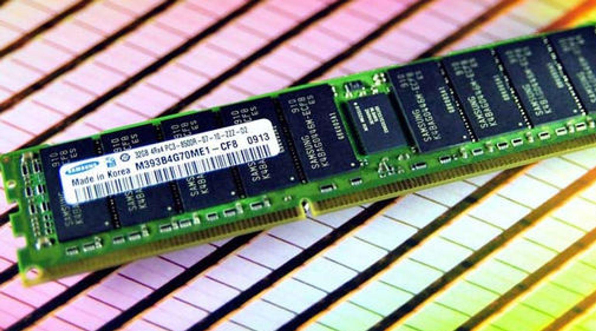 Samsung DDR3 RDIMM med kapasitet på 32 GB.