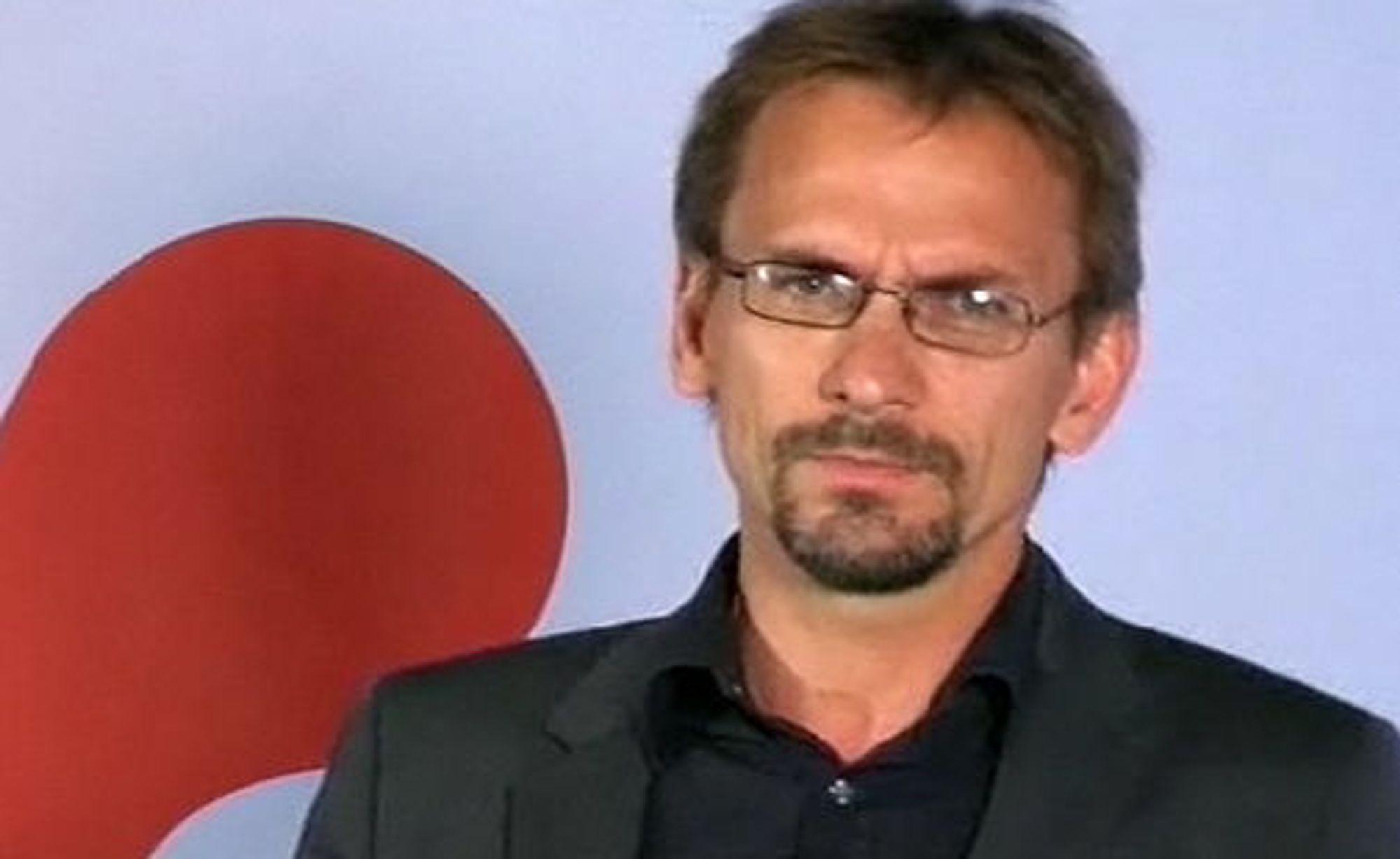 Christen Krogh, utviklingssjef i Opera Software, under dagens Opera Unite-presentasjon som ble gjort per webcast.