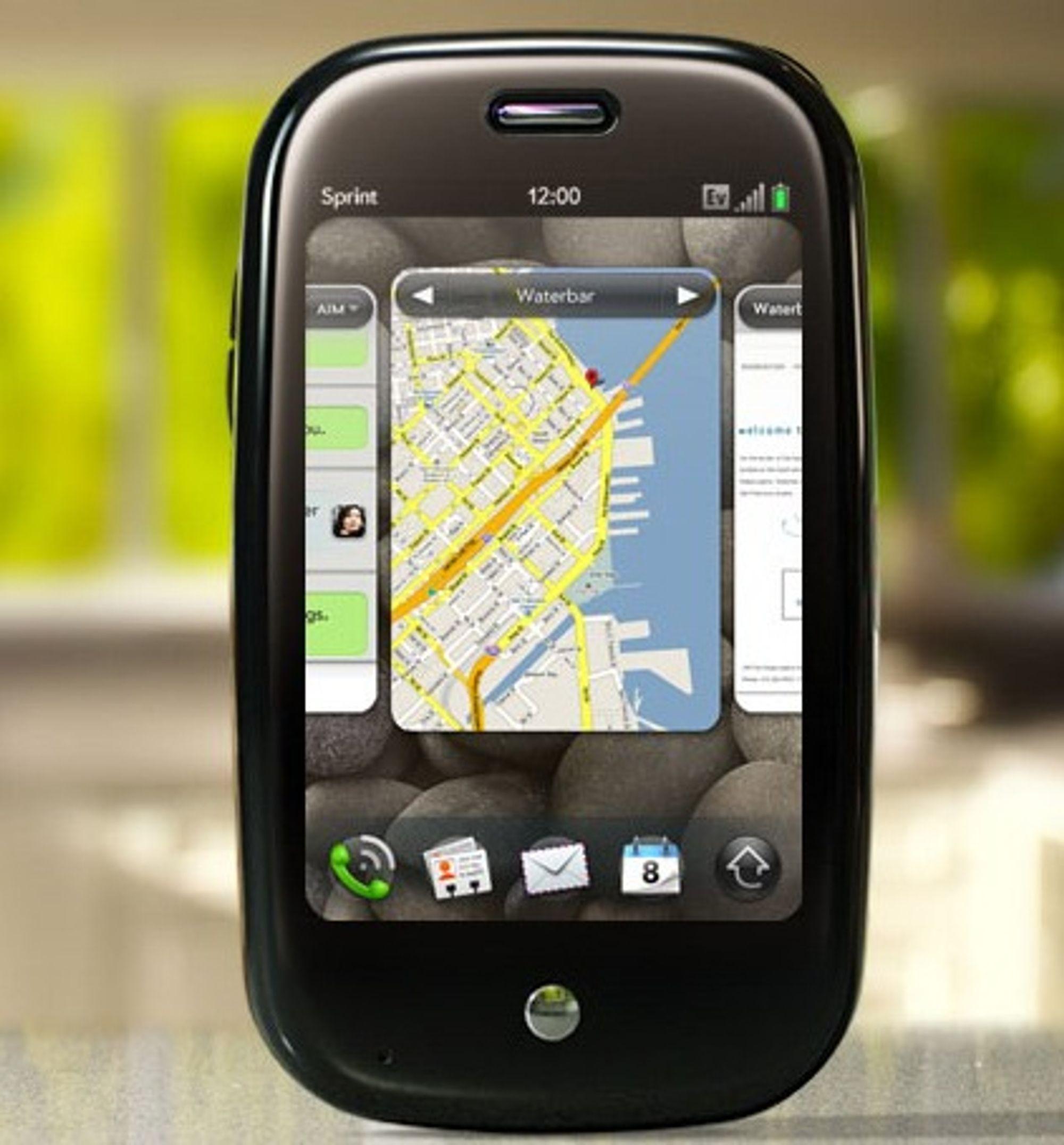 Palm Pre viser flere applikasjoner side ved side