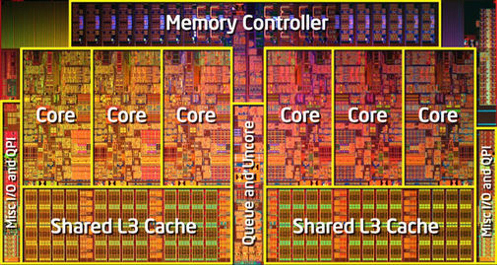 Intel «Gulftown»-prosessor med seks kjerner