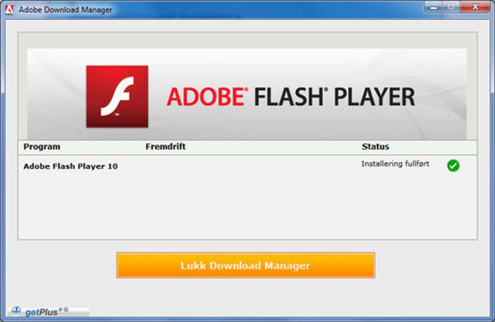 Dette er programmet som nå må installeres på nytt.