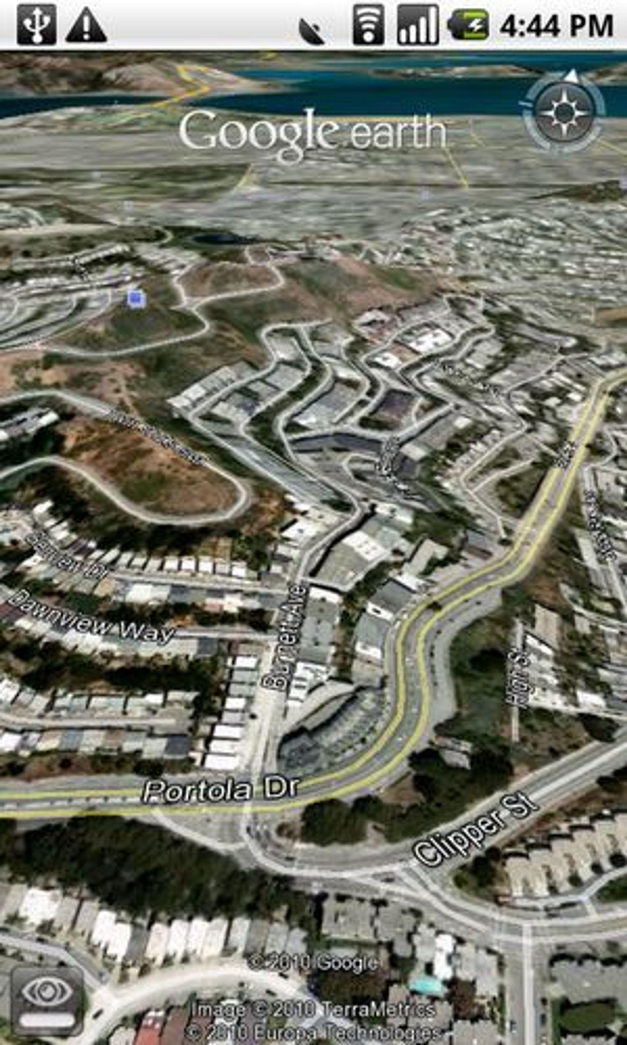 Veinavn vises nå i Google Earth for mobiler.
