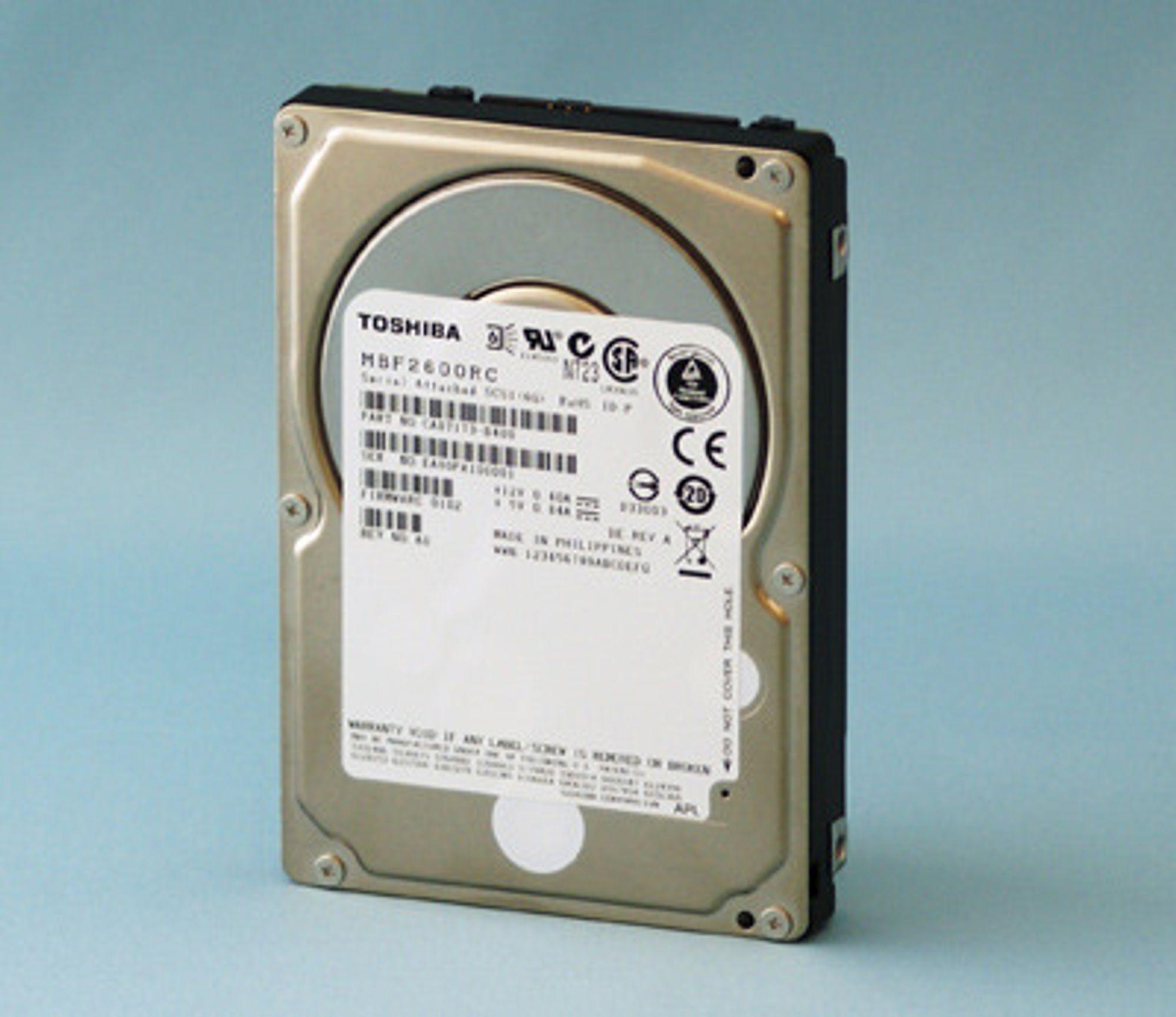 Toshiba MBF2600RC 2,5 tommer harddisk
