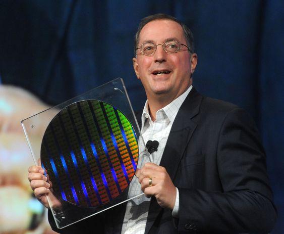 Gode tider: Intel-topp Paul Otellini kan glede seg over selskapets beste kvartalstall noensinne.