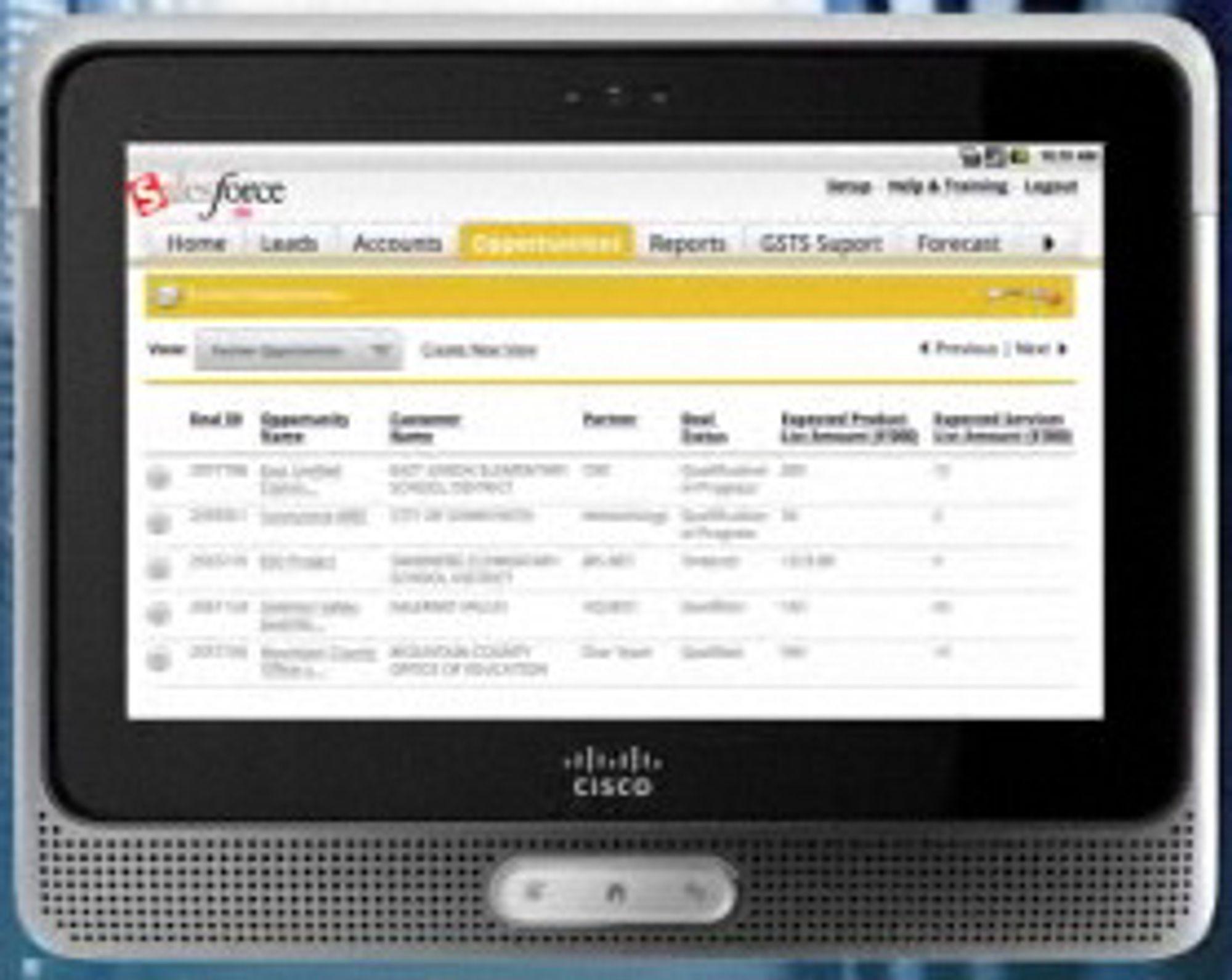 Cius gir mobil tilgang til bedriftsapplikasjoner som Salesforce.