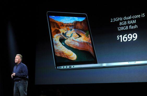 Phil Schiller presenterte MacBook Pro med tretten tommer og retina-skjerm.