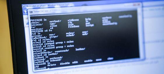 4. Fra et linux-shell er det enkelt å opprette, slette og redigere regler for brannmuren.