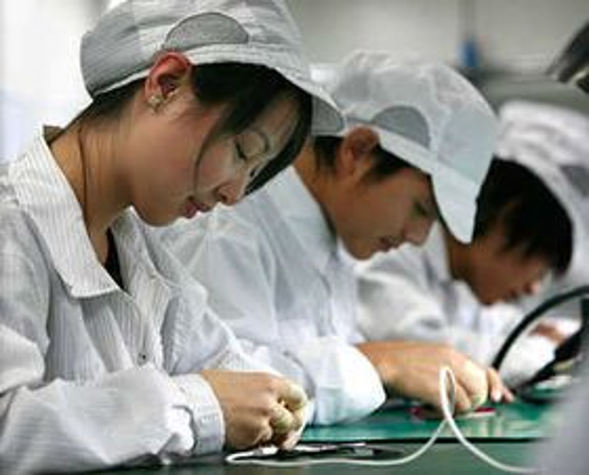 Arbeidere ved Foxconns fabrikker er gjerne unge kvinner  fra utkantstrøk.