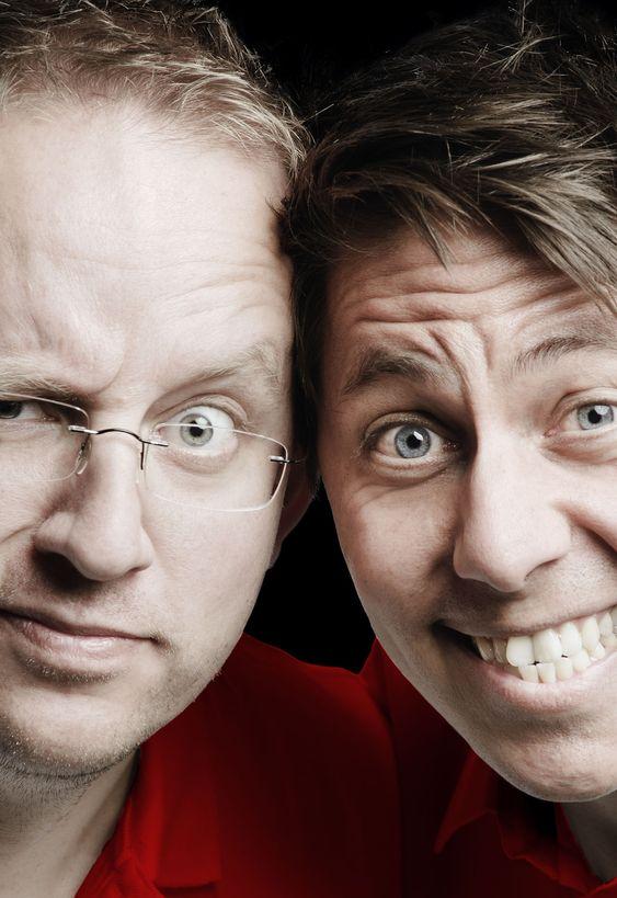 Poio AS er et nytt spillselskap som satser på iPad. Her de to gründerne Karl-Erik Rønsen (til v.) og Daniel Senn (til h.)
