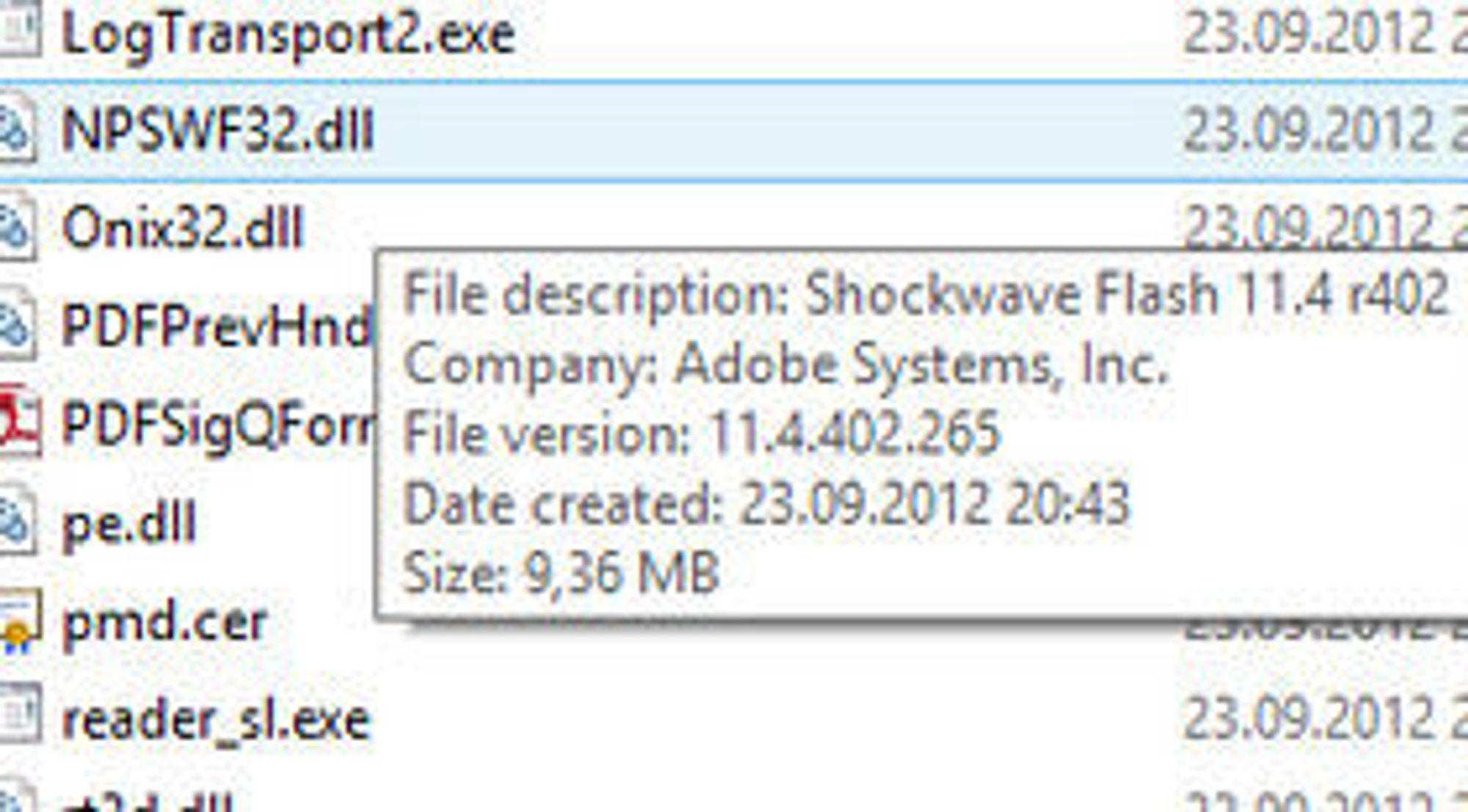 Bibliotekfilen som gir Adobe Reader XI Flash-støtte, inkluderer trolig flere sårbarheter som har blitt fjernet i den separate utgaven av Adobe Flash Player.