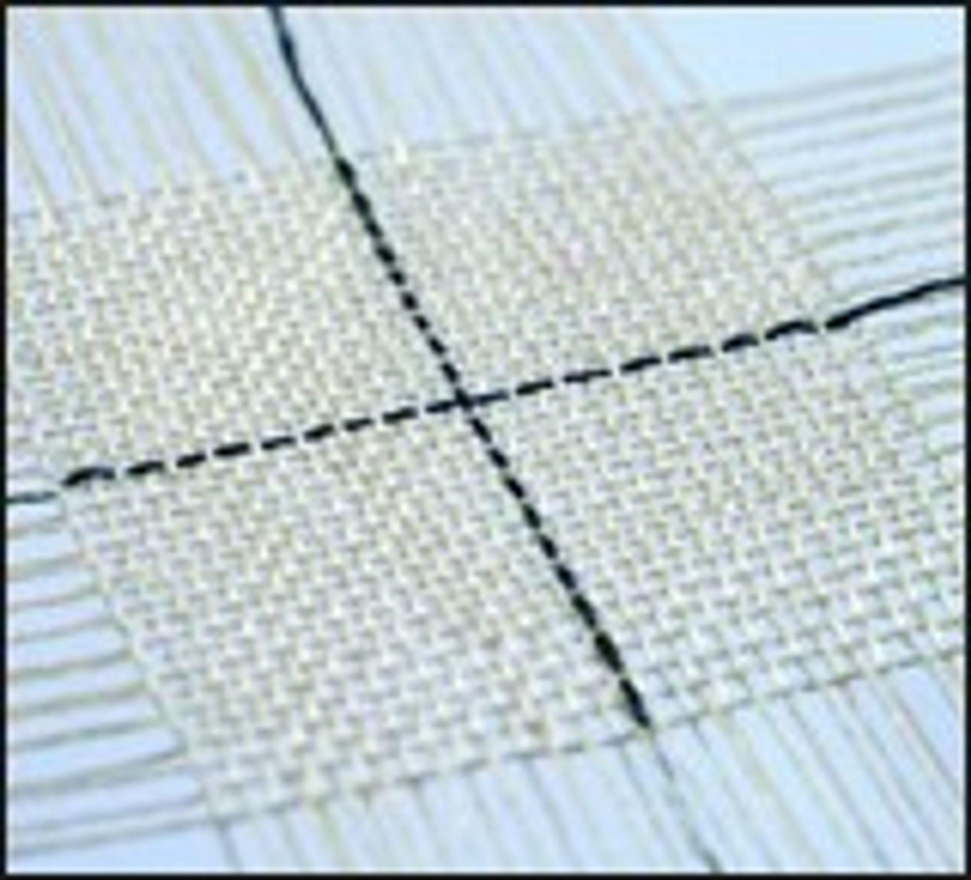 Transistor laget av silke og et plastmateriale ved Linköpings Universitet.