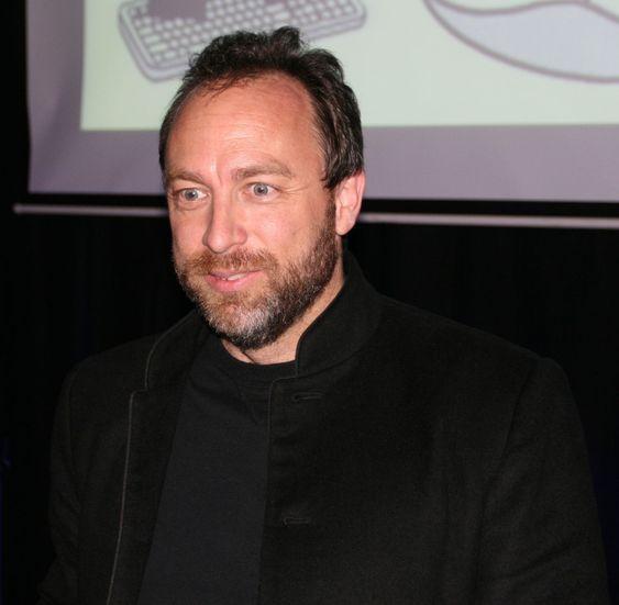 Jimmy Wales på besøk i Oslo i mai 2008.