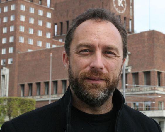 Jimmy Wales under hans besøk i Oslo i 2008.