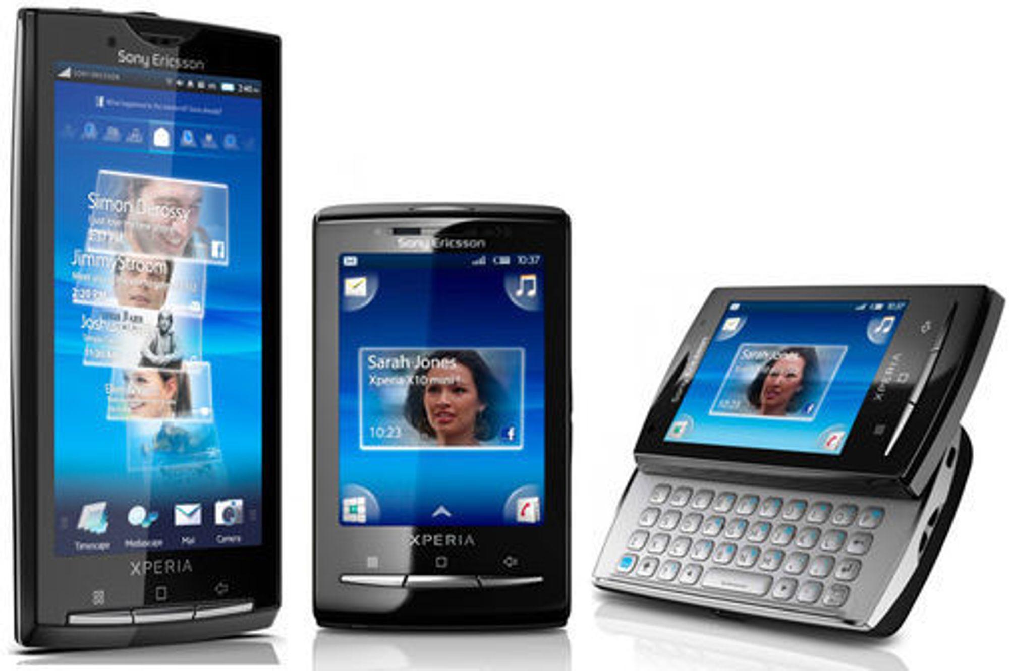 Sony Ericssons Xperia X10-familie med smartmobiler vil aldri få offisiell støtte for Android 2.2 eller nyere.