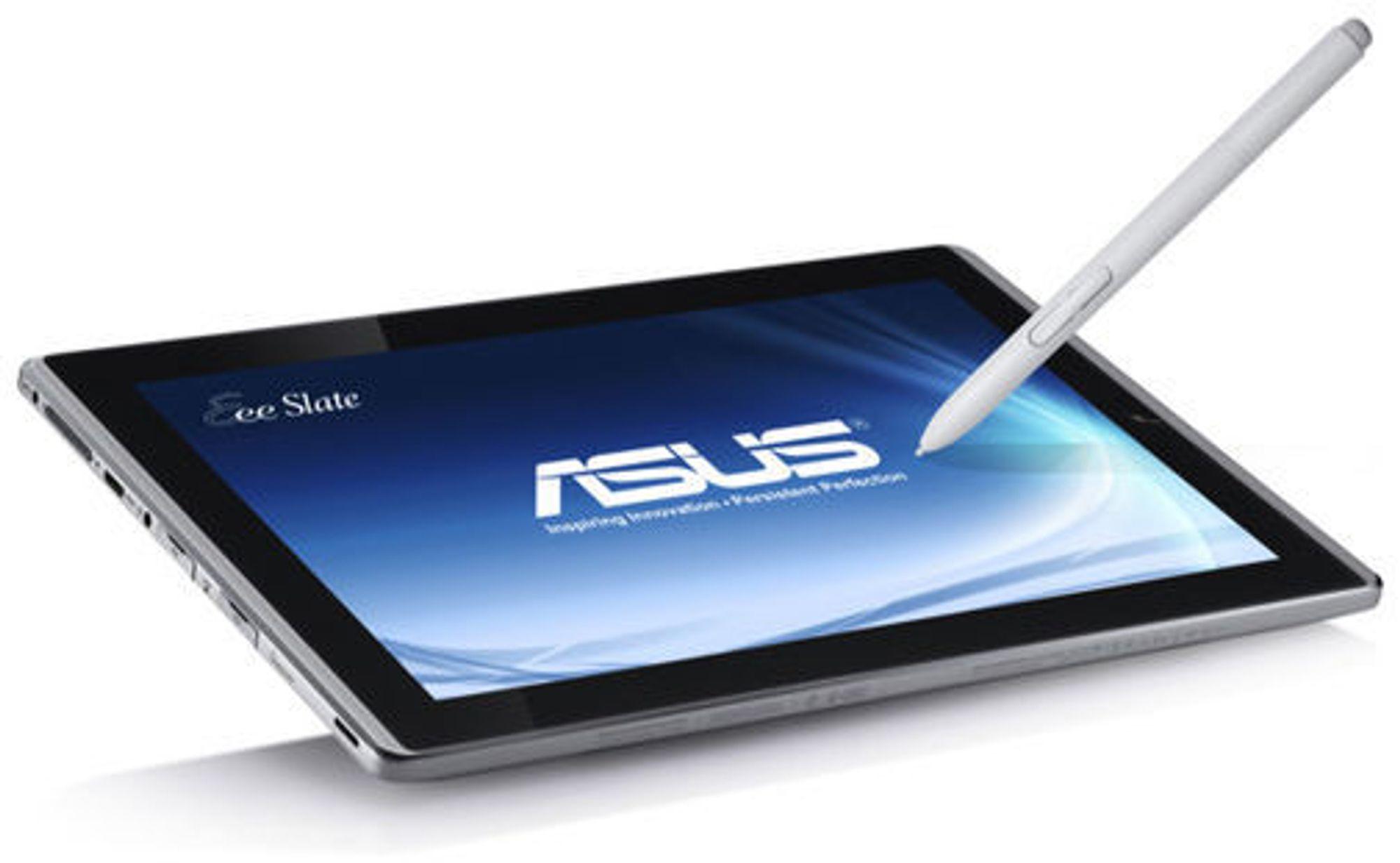 Asus Eee Slate EP121 er basert på Windows 7. Den har støtte for Bluetooth og mulighet for tilkobling av blant annet eksternt tastatur.