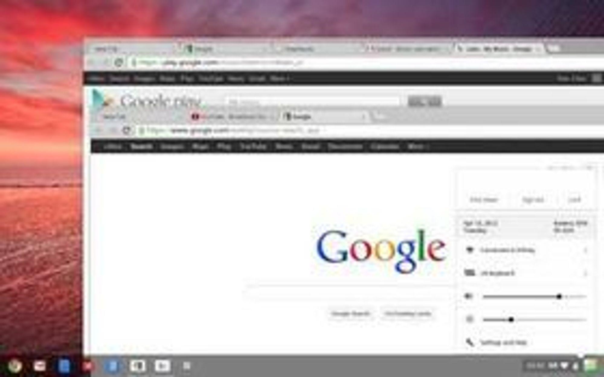 Chrome OS får nå støtte for overlappende programvinduer.