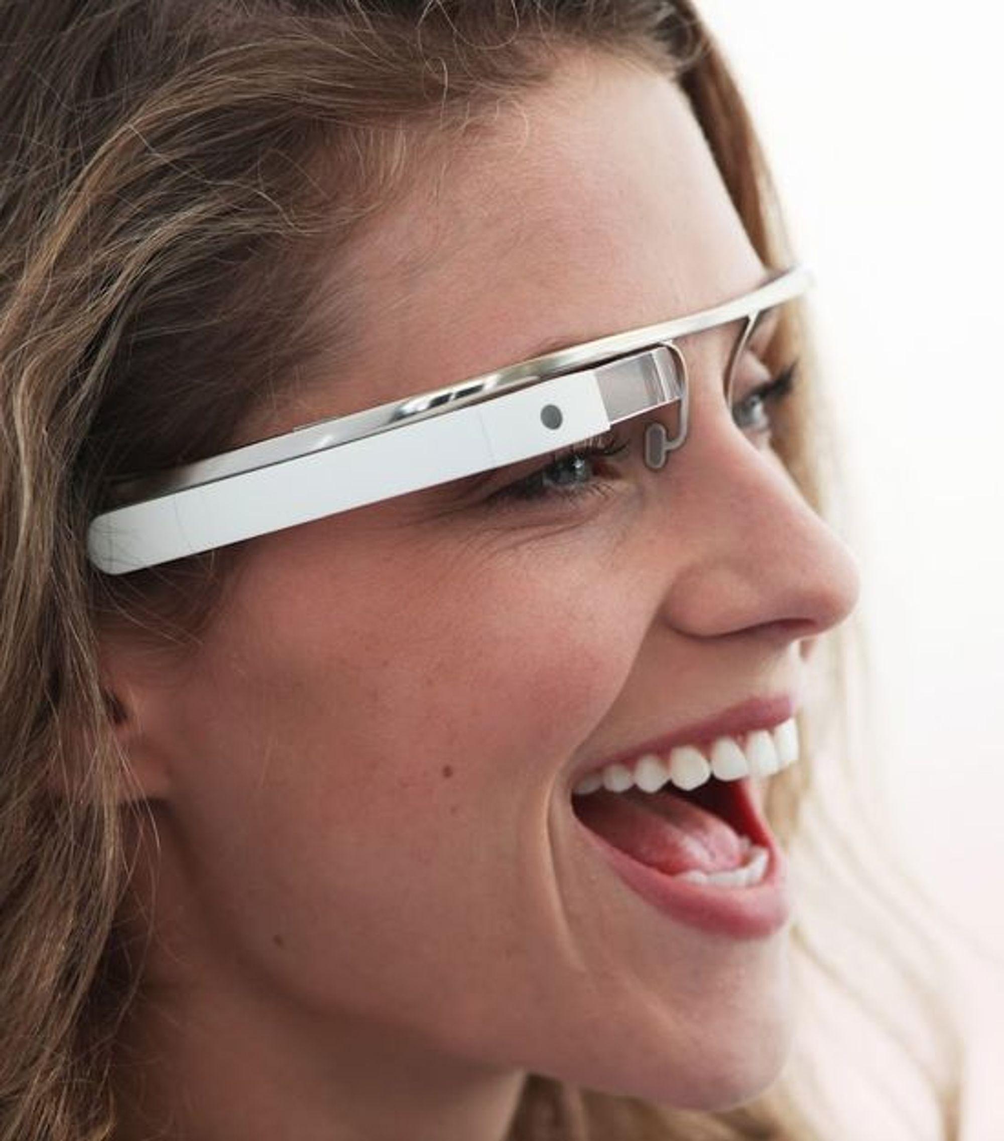 Designstudie av hvordan Google-brillene kan bli seende ut.