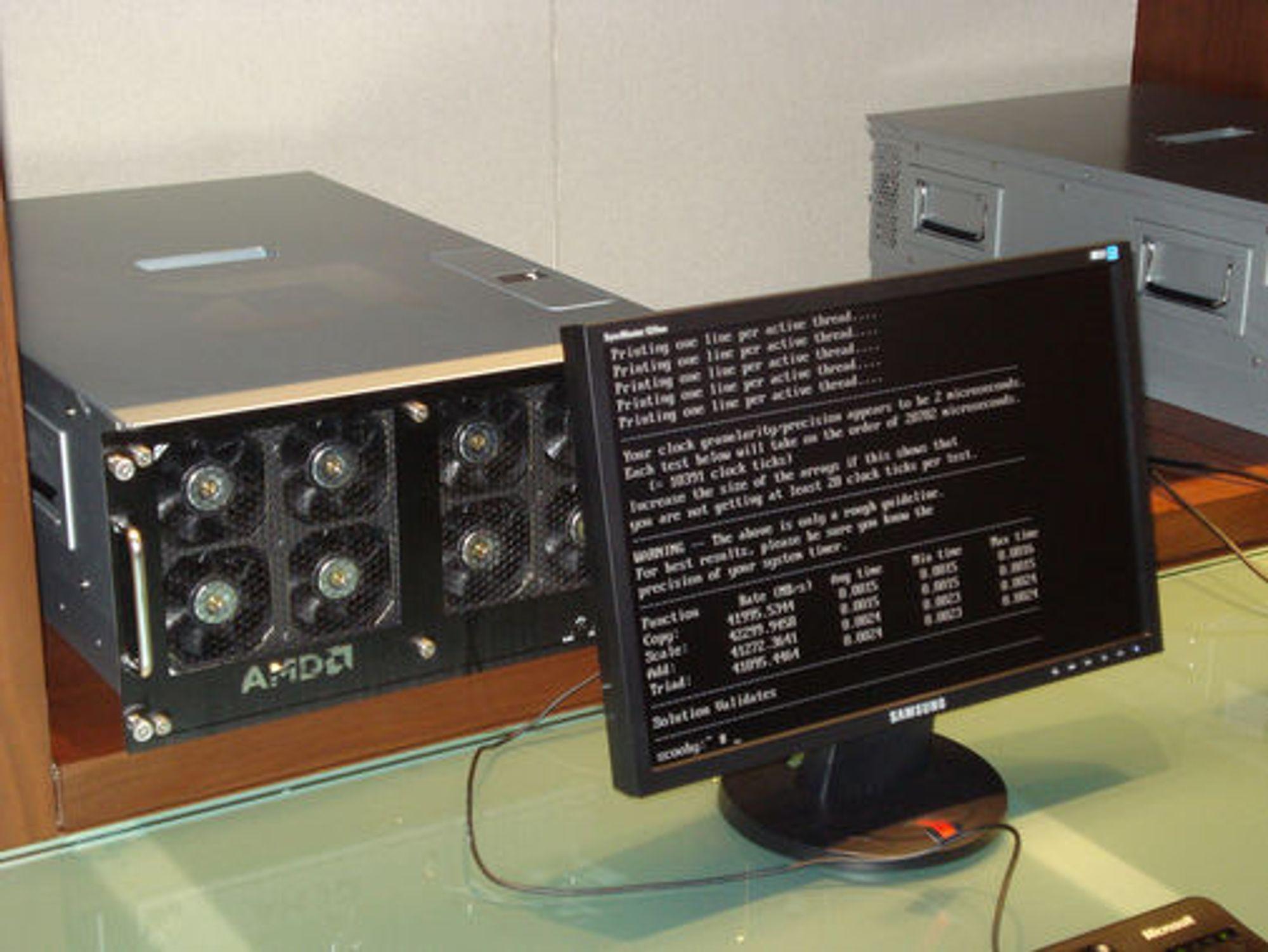 Testsystem med AMD Istanbul.