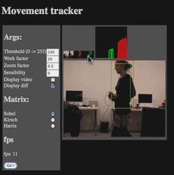 Movement Tracker tar i bruk Worker Threads og elementene canvas og video i Firefox 3.1.