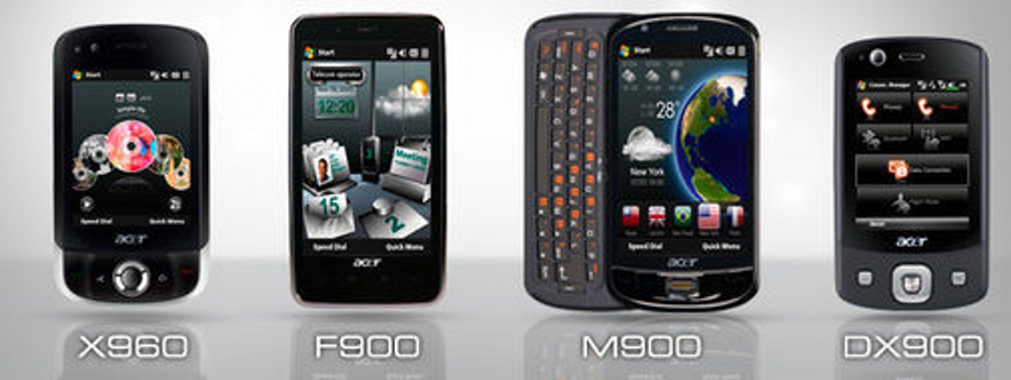 Acers fire første Tempo-mobiler