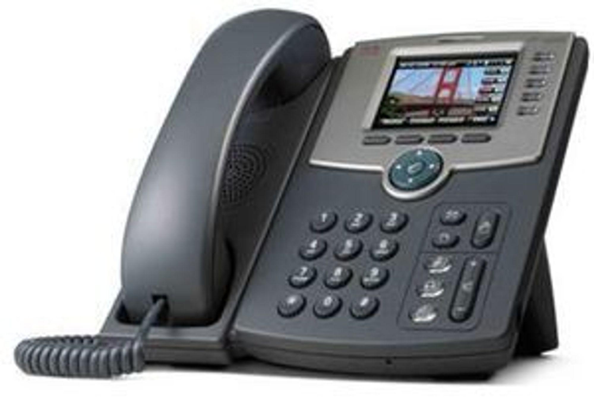 Ciscos IP-telefon SPA525G har både nyttige og underholdende funksjoner.