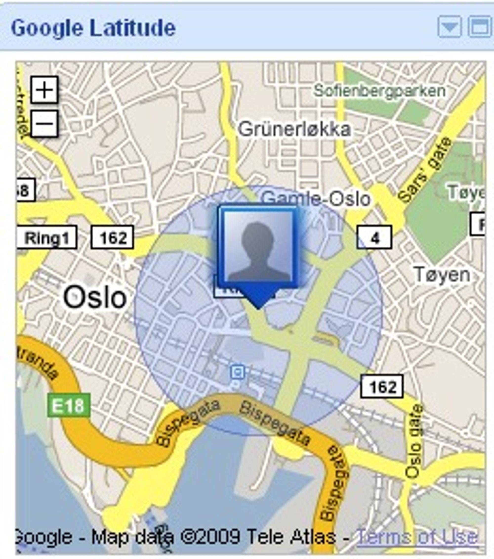 Google Latitude i iGoogle.